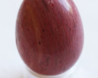 """Rhodonite 1-9/16"""" Egg for Musicians and Linguists!"""