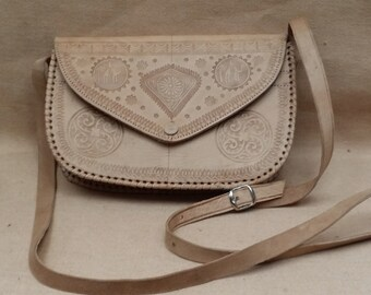Unique Crossbody Leather bag, moroccan bag, leather purse, small bag, shoulder bag, handbag, tote, leather