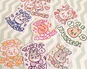 Sticker Sheet - Positive Buns