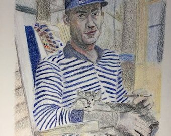 Hunter S. Thompson With Cat