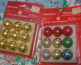 vintage variety glass tree ornaments