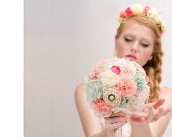 Bridal Bouquet, wedding bouquet, fabric flowers bouquet