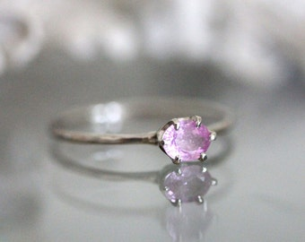 Pink Princess - Pink Sapphire 14K Gold Ring, Gemstone Ring, Stacking Ring, Eco Friendly, Recycled Gold - Custom Made For You