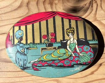 Art Deco oval French chocolate box | 1920s