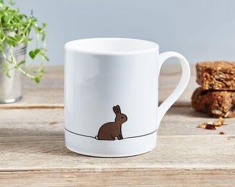 Rabbit Mug, Rabbit Lover Gift, Fine Bone China Mug, Bunny Gift, Bunny Lover Gift