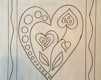 Valentines Boquett 2 Rug Hooking Pattern