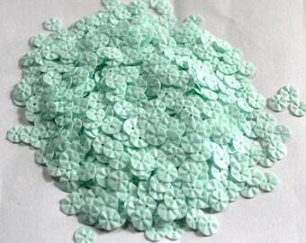 100 Light Green Color  Round Shape Sequins/ Crimpled effect/KBRS602