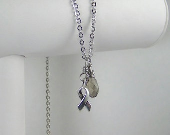 Gray Awareness Necklace