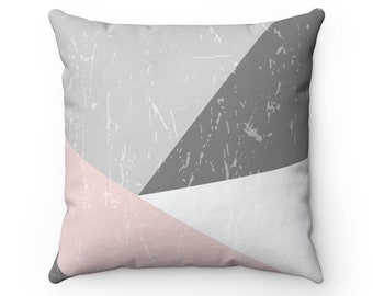 Scandinavian grunge, Square Pillow, minimalist design, geometric shapes, throw pillow, decorative pillow