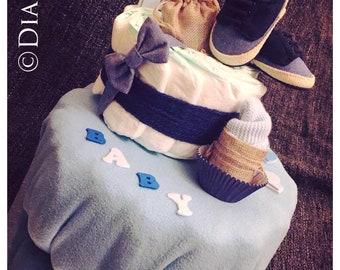 Diaper cake. Baby sailor _Baby shower_naissance_anniversaire_bapteme_diaper Cake