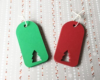 "30 Holiday Gift Tags - 1.5"" Wide Christmas Tags"