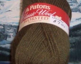 201308001 Patons classic wool 3.5 oz Moss Heather