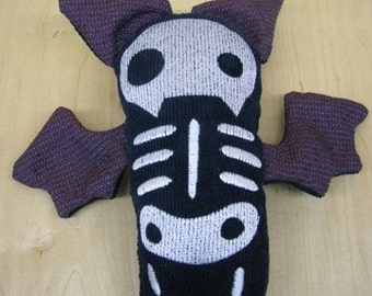 Beatrice the Skeleton Bat Heavy Duty Rough and Tough Dog Toy