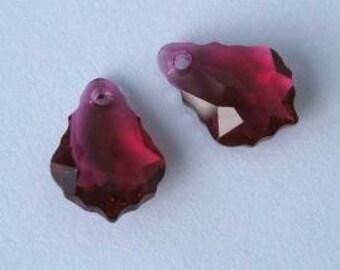 SWAROVSKI 6090 Baroque Crystal Pendant RUBY