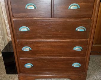 Solid wood antique dresser