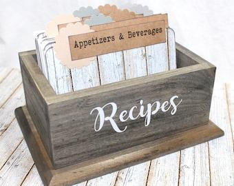Rustic Recipe Box / Barnwood Recipe Dividers / Barnwood Recipe Box / Rustic Recipe Divider / Recipe Box and Dividers / Recipe Cards / Burlap