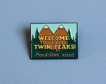 Welcome To Twin Peaks soft enamel lapel pin