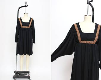 1970s End of the Trail Dress { S } Vintage 70s Tapestry Dress