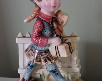 Vintage American Greetings Corp Schoolgirl Figurine