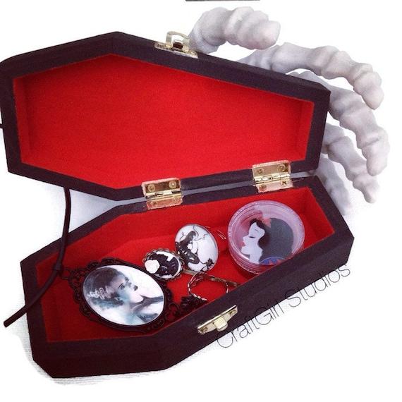 Coffin Jewelry Box Goth Jewelry Box Black Jewelry Box