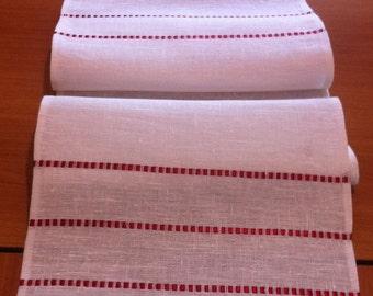 Runner  white linen