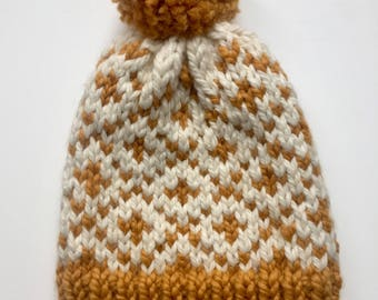 Warm, cozy canadian knit winter hat