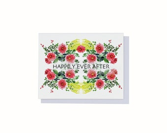 Happily Ever After, Wedding Card, Congratulations