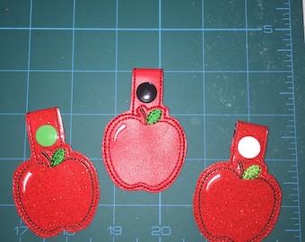 Apple Key Fob - Apple Key Chain/Snap Tab