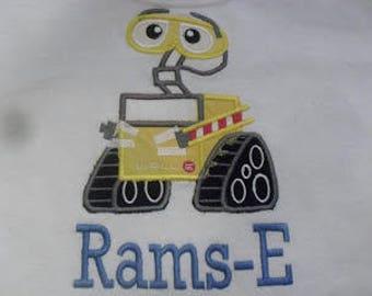 Wall-E theme Applique Shirt