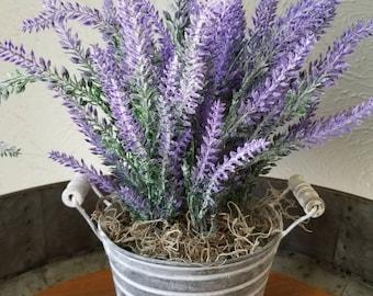 Lavender Galvanized Bucket