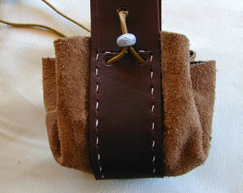 Leathe.r medieval style pouch