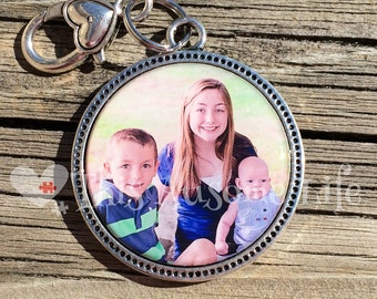 Keepsake Photo keychain Set Under Jewelers Grade Resin