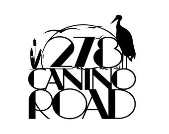 Custom Outdoor Address Metal Sign - Black, 12x12, Heron, Cattails, House Number, Address Sign, Custom Sign, Metal Sign