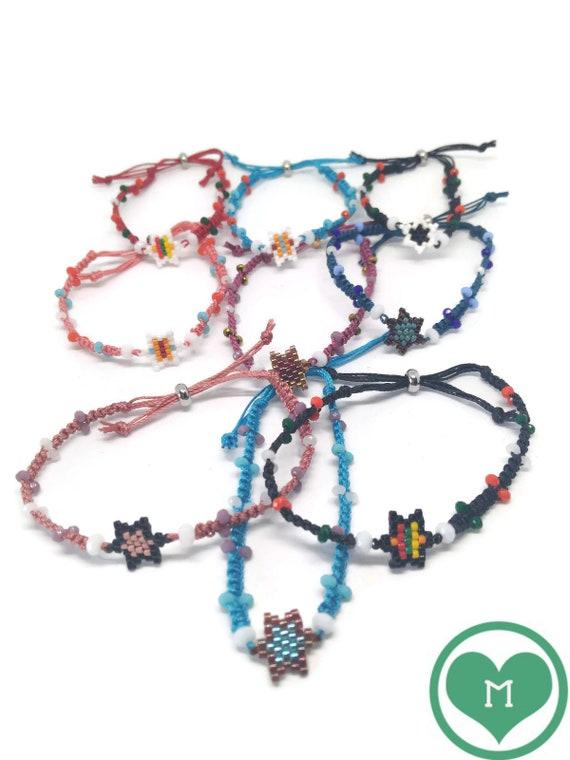 Star Macrame Bracelet, Star Friendship Bracelet, Boho Star Bracelet