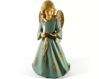 Noelite Angel / Candle w Electric Lit Flame
