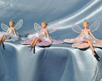 Secret Garden Mini Fairy Ornaments - Set of Three