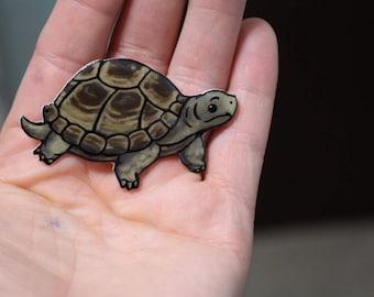 Russian Tortoise  Magnet Gift for turtle tortoise lover for Locker Car or Fridge