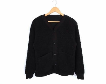 Rare!! Avirex Fleece Button Sweater Cardigan