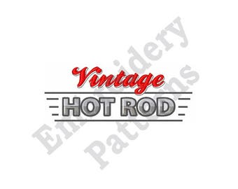 Vintage Hot Rod - Machine Embroidery Design