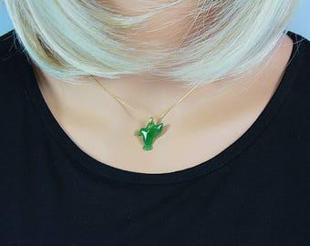 Jade jewelry, Green Jade necklace, Bird,Bird Lovers, Jade Necklace, Green Jade, Jade, green Necklace, Hummingbird, Bird Necklace, Jade, Gift