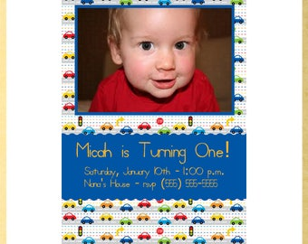 Cars, Trucks and Planes Birthday Invitation