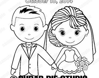 wedding coloring book templates