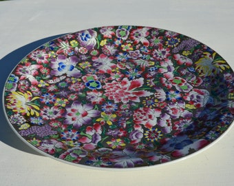 Floral Serving Plate