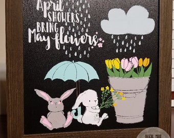 April Showers Chalkboard