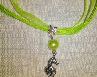 10 Sea Horse Necklaces Party Favors. Fast shipping from USA. Perfect for a Under sea or Mermaid  party