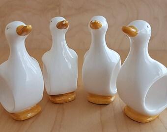 Vintage Duck Napkin Rings. Vintage 1980's