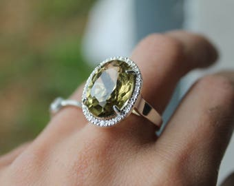 Citrine and 925 Silver ring