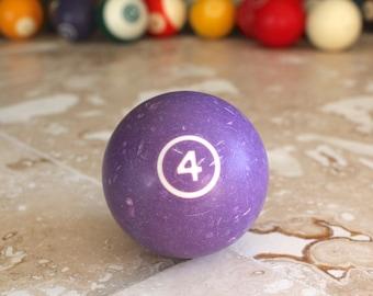 Pool ball, billiard ball, pool table ball, vintage pool ball, snooker ball, juggling, pool hall, man cave, bar decor, 1970s collectible
