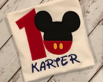 Mickey Mouse 1st birthday shirt