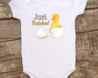 Cute Baby clothes, Unique Baby bodysuit, Easter, Duckling, Kids Clothes, Locally Grown, Farm, Duck bodysuit, Just Hatched